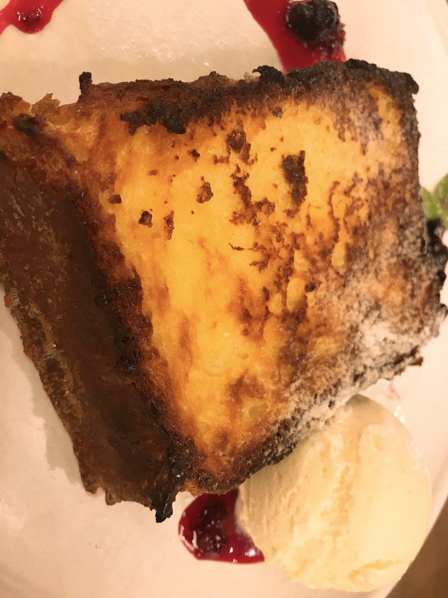 べアートのフレンチトースト☺️✨甘いですが、くどくなくてぺろっといけちゃいました😋分厚めのトーストに染み込んだ牛乳がたまりません☺️❣️福島に来た際はぜひ♪CAFE BEATO
