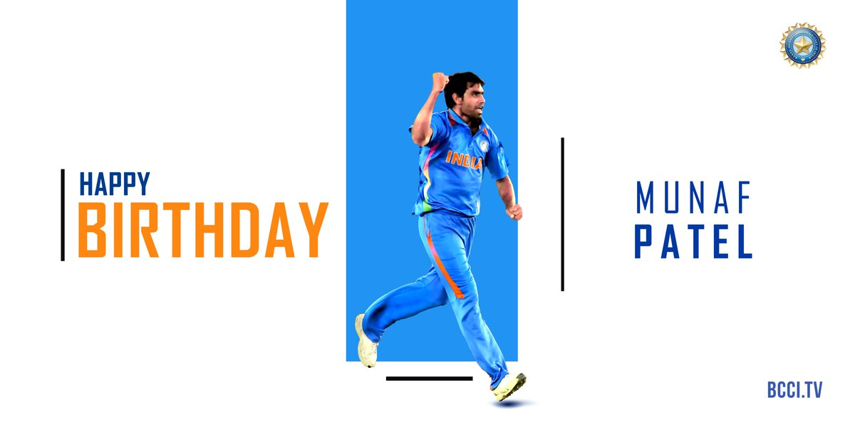 He began his journey from Ikhar, a small town near Baroda and went on to make an impression in international cricket. Here's wishing the affable Munaf Patel, India's World Cup winner, a very happy birthday!  <br>http://pic.twitter.com/ve5yWlql1E