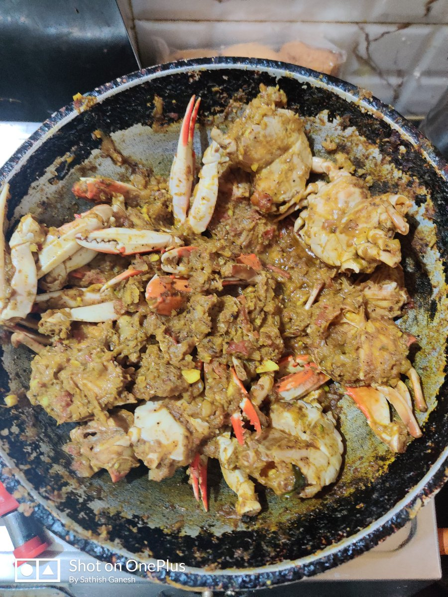 6. Once Crabs are cooked add chopped green chili, coriander leaves, mix and remove from stove  7. Serve hot or warm with rice. #food #foodphotography #foodie #recipe #RecipeOfTheDay #SundayFunday