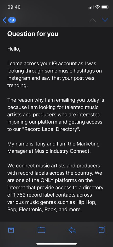 """ah yes, we love spam emails. not hashtagged since october 2019 and i'm definitely NOT trending bc i've not posted since feb. fuck off """"tony"""" <br>http://pic.twitter.com/mngEqJUewr"""