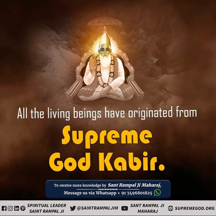 All the living beings have originated from Supreme God Kabir. He is the creator of all the souls. He alone is worthy of being worshipped. - Saint Rampal Ji Maharaj  #SundayMorning #GodMorningSunday<br>http://pic.twitter.com/ZQ3UTC4HHG