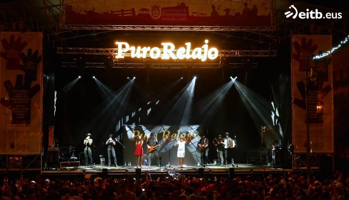 🎸🎶ETB1 y https://t.co/fxM2Uwidwe emitieron ayer el concierto de @puro_relajo en #sanfermines de 2018. Ya puedes verlo íntegro y a la carta, aquí➡️ https://t.co/j9z37uLfHW https://t.co/s4nhlTDJKk