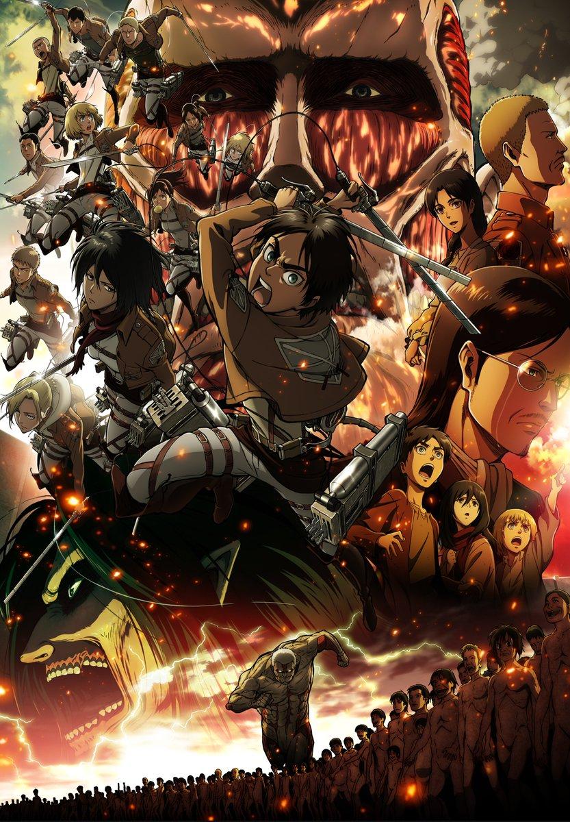 【「進撃の巨人」歴代キービジュアル③】7月17日(金)『「進撃の巨人」~クロニクル~』の劇場公開を記念して、歴代キービジュアルを振り返ります!2014年に公開された、劇場版「進撃の巨人」前編~紅蓮の弓矢~のキービジュアルです!#shingeki