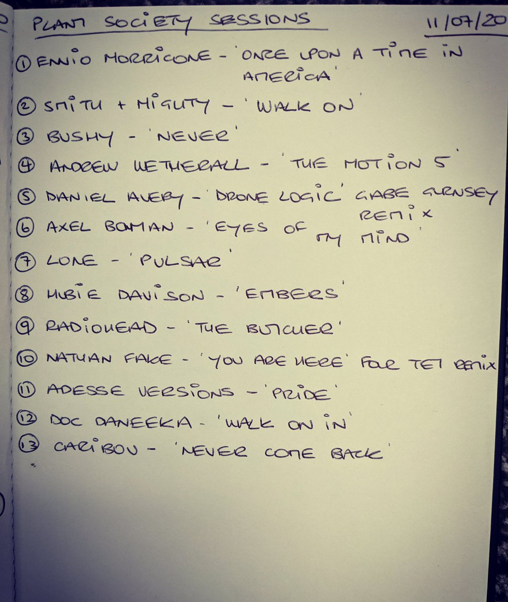 Thanks to everyone that joined the live stream last night. We had a blast, hope you enjoyed it too. Here's the setlist from the 2nd mix courtesy of @AJacobsArtist Thanks for listening and see you soon #djset #setlist #housemusic #Beatspic.twitter.com/Lic7AvKguQ