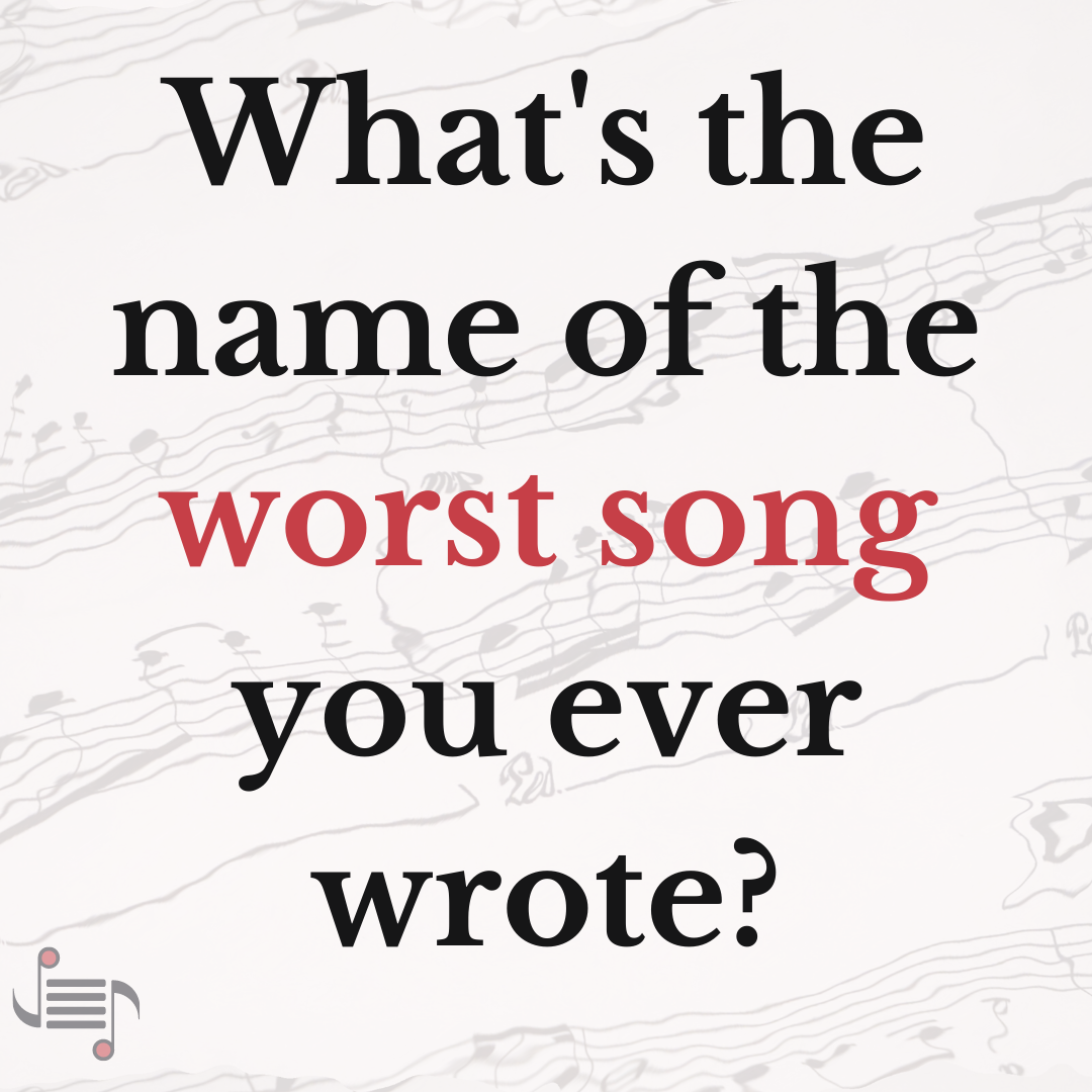 "The worst song I ever (co)wrote was called ""Livin' on LI."" #songwriter #composer #musicians #songwriting #metal #punk #rockmusic #classicalmusic #popmusic #music #singersongwriter #justwritemusic  Join the conversation: http://justwritemusic.com pic.twitter.com/S93qULY4Cg"