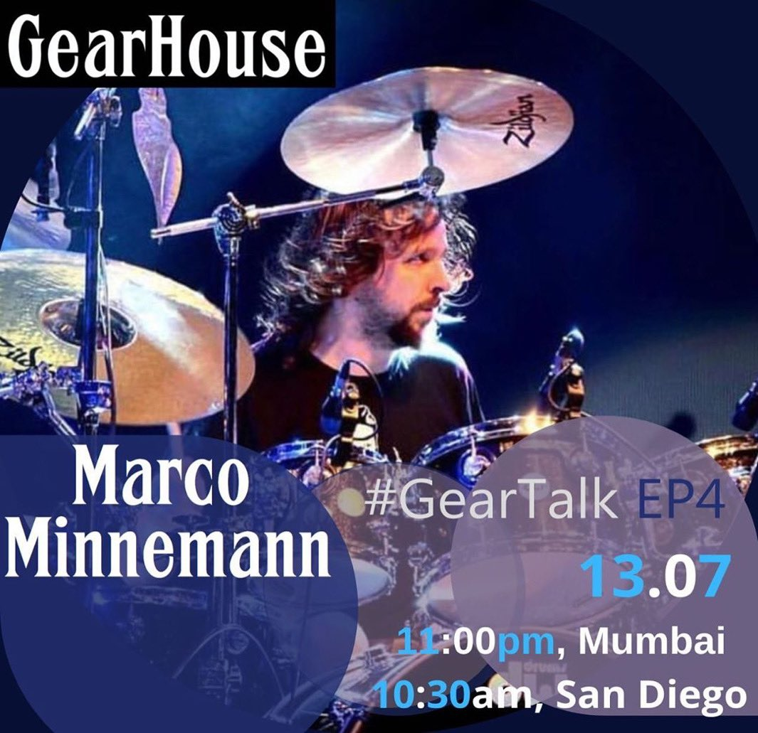 #Repost @gearhouseindia Super stoked to have legendary drummer, composer & multi-instrumentalist @mrkempinski of the Aristocrats who has many solo albums to his discography - performed & toured with Joe Satriani & Steven Wilson to name a few.#GearTalk #MarcoMinnemann #drumspic.twitter.com/oJlEJpy8GF