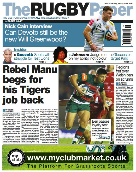 OUT NOW! ☕️ Peter Jackson reports on the final stages of Leicester's discussions with Manu Tuilagi.  - Jonny Gray feature - Ashley Johnson on leaving Wasps to coach at Moseley - Phil Greening on the state of rugby in the USA https://t.co/wVW2q8iwiv