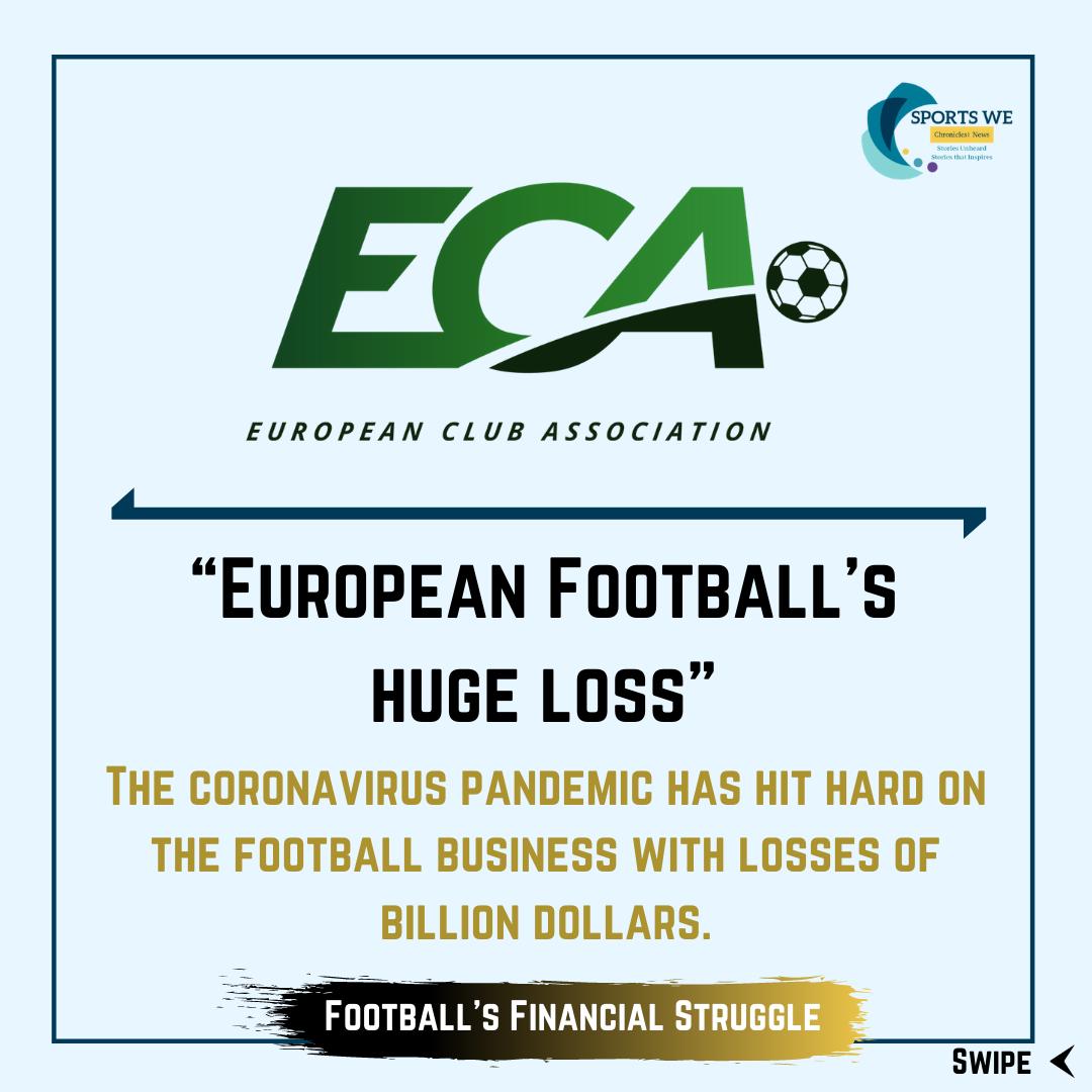 #ECA predicts $4.5 billion revenue loss for clubs in #Europe #europeanclubassociation#european#eurofoot4all#euro#football#soccer#uefa#championsleague#fifa#premierleague#worldcup#bundesliga#laliga#sport#cr#realmadrid#europaleague#seriea#futbol#pes#ligue#france https://t.co/e4yaJJNR98