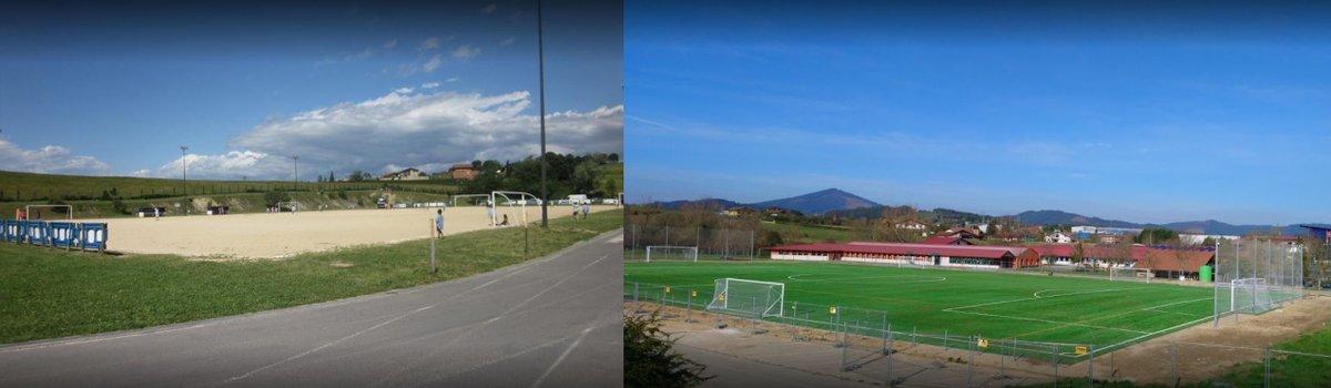 ⚽️El antes y el después del campo de #fútbol. Así ha quedado después de la remodelación, un #campo perfecto para nuestro #equipo. ¡Aupa Larramendi!   #Larramendi #Ikastola https://t.co/IPpNoJ9icd