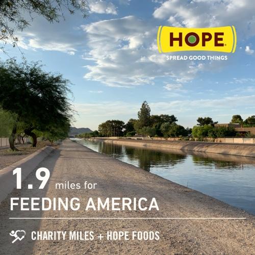 1.9 @CharityMiles morning doggie walk for @FeedingAmerica. Thx @HopeHummus for sponsoring me! #SpreadHope<br>http://pic.twitter.com/0YflneAAS1