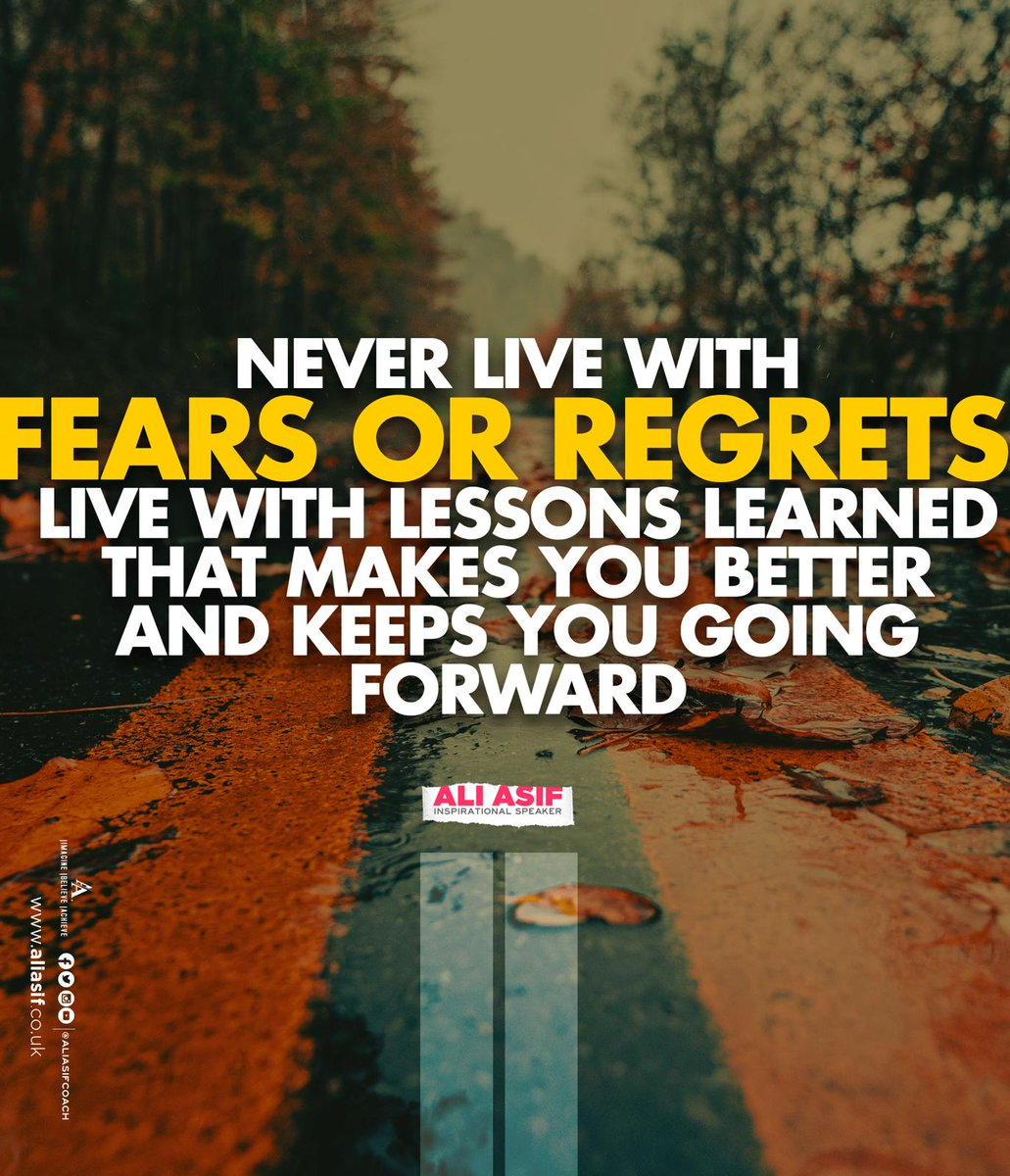 Never live with fears or regrets live with lessons learned that makes you better and keeps you going forward. #FridayThoughts #FridayMotivation #FridayFeeling #ThinkBIGSundayWithMarshapic.twitter.com/XbeSRvx4lo