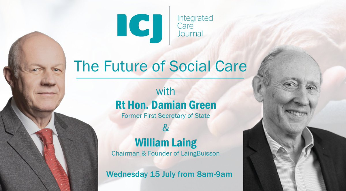 """Join @Policy_Projects & @ICJnews for our next open virtual breakfast with Rt Hon @DamianGreen MP, former First Secretary of State & @WilliamLaingLB, Chairman & Founder of @LaingBuisson in discussion on the """"future of social care"""". Register here:  https://t.co/BOxTE309TU https://t.co/xp49vZEz13"""