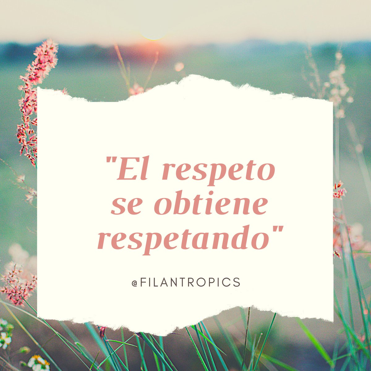 """𝑬𝒍 𝒓𝒆𝒔𝒑𝒆𝒕𝒐 𝒔𝒆 𝒐𝒃𝒕𝒊𝒆𝒏𝒆 𝒓𝒆𝒔𝒑𝒆𝒕𝒂𝒏𝒅𝒐"" 🌸 #respeto #motivacional #motivation #motivacion #leccionesdevida #psicologies #psicologia #lifestyle #photooftheday"