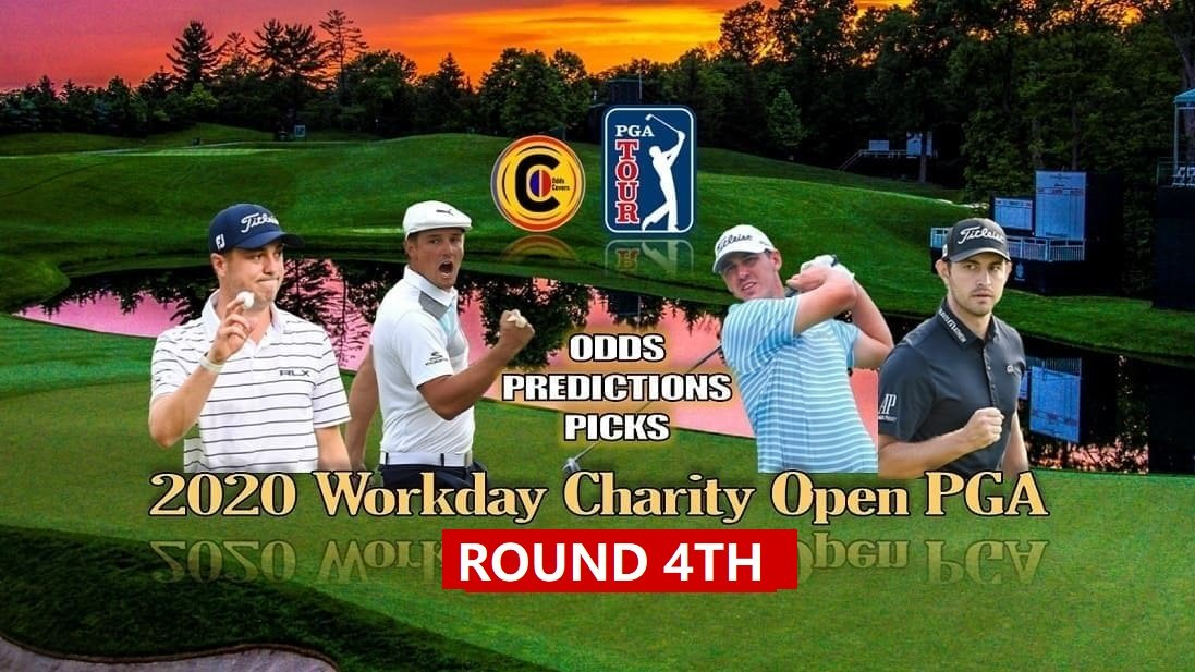4th Round 2020 #WorkdayCharityOpen #PGATour #Golf   Justin Thomas is the Favorite at -225  4R Starts from 7:00a ET   Free Bets and Odds Here - https://t.co/usxIjeIoRy   #PGA #UFC251 #UFCFightIsland #indiedev #indiedevhour  #indie #Skillz #unity #games #gamedev #eSports #Touchdown https://t.co/YwGPTDqUuv