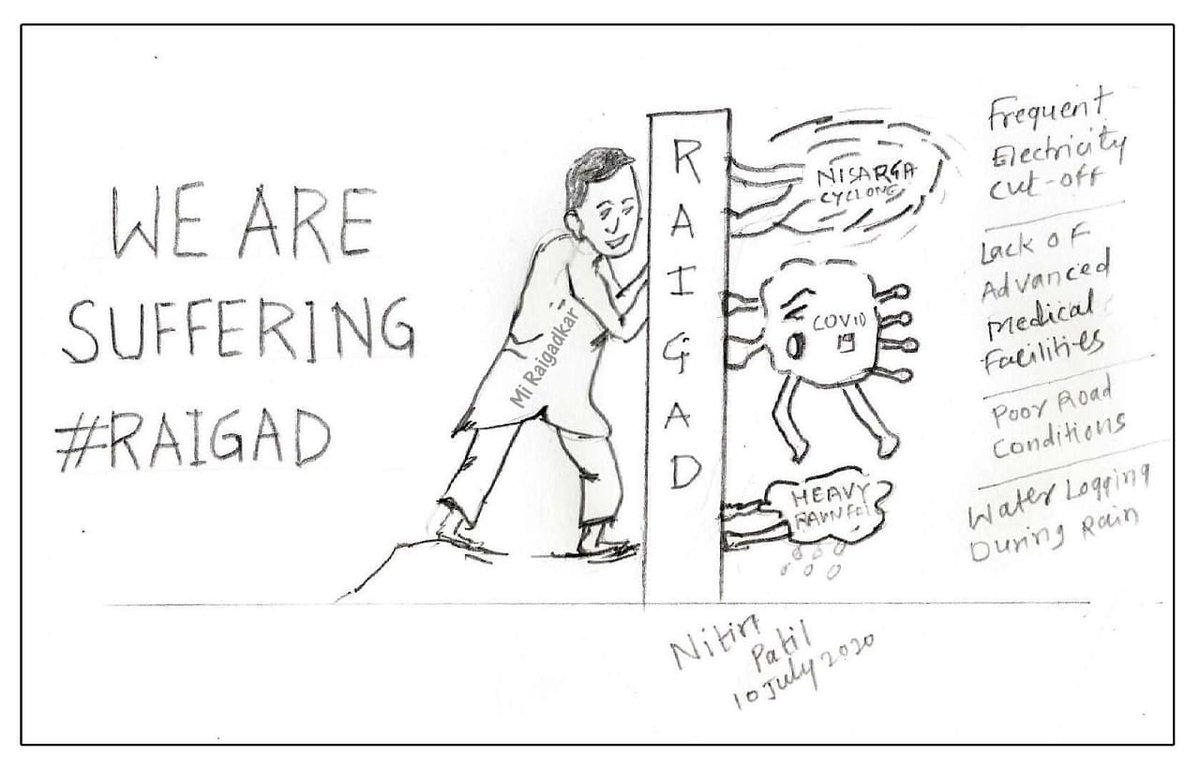 A picture speaks a thousand words. Sketch by me. @narendramodi @Dev_Fadnavis @mipravindarekar @meNeeleshNRane @NiteshNRane @CollectorRaigad @RaigadPolice @ithakurprashant #caricature #drawing #sketch #artwork #Corona #Covid19 #Nisarga #NisargaCyclone #Cyclone #Raigadpic.twitter.com/UPRYvrBw73