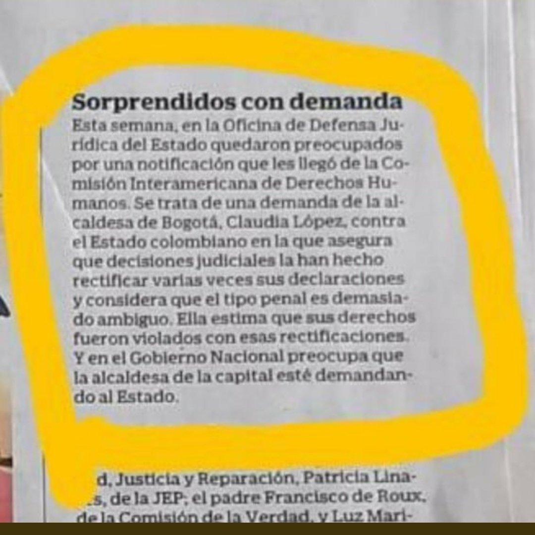 #Colombia #Bogota Claudia López demanda al Estado por haberse tenido que retractar en sus declaraciones.   No me cabe duda; Gustavo Petro ta tiene sucesor ⬇️ https://t.co/7BIItCxwPZ