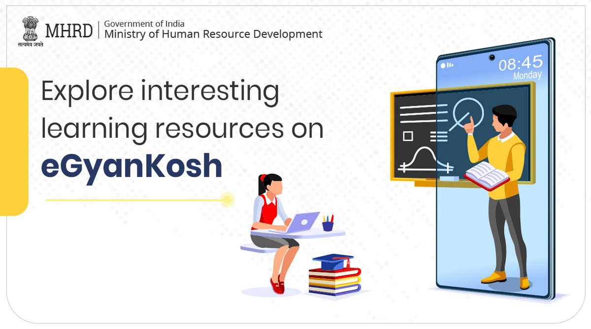 Students, have you explored interesting learning resources on eGyanKosh yet? If not, do now & share your experience with us.  Share courses that you loved with your peers & friends! Let's learn & grow together. https://t.co/UIxhdH4bOY https://t.co/fUKQVjotDh