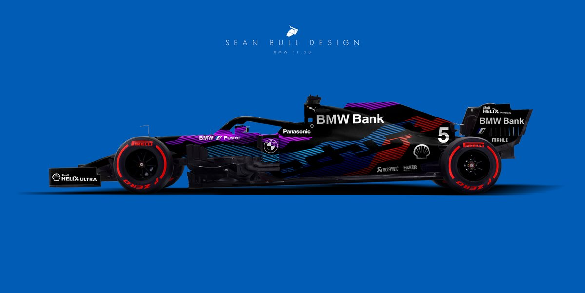 Sean Bull Design On Twitter 2020 Bmw F1 Livery Concept Asymmetric Split With A Mix Of M And I Branding Demonstrating The Turbo Hybrid Powertrain F1 F12020 Formula1 Formulaone Styriangp Austriangp Bmw
