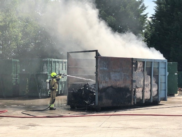 Dursley and Stroud Fire Crews are currently dealing with a fire at Horsley Recycling.