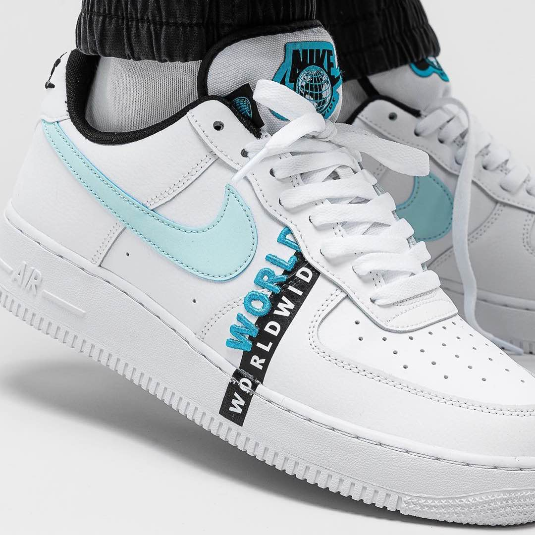Nike Air Force 1 07 LV8 « Worldwide »  Credit : Overkill — #nike #airforce #sneakerhead #sneakersaddict #sneakers #kicks #footwear #shoes #fashion #style