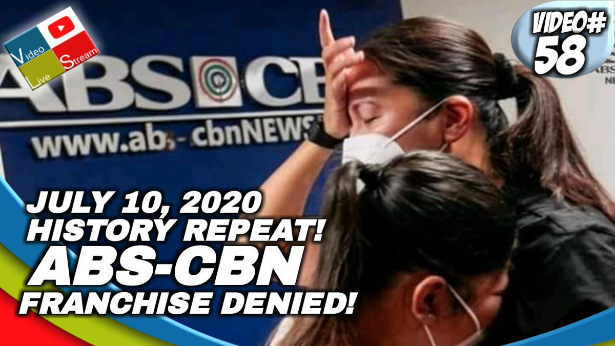 #ABSCBN #ABSCBNFranchiseDenial #MartialLaw #LabanKapamilya #DefendPressFreedom #ABSCBNfranchise Watch the latest about ABS CBN Franchise Denial link below 👇 https://t.co/dTb61yMELM https://t.co/6dzYonpOLU