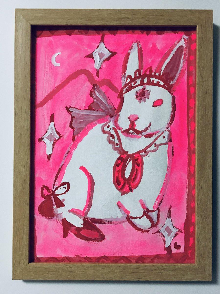 ピンク、ファッション * * * ウサギ #illustration #drawing #Rabbit #pink #animal #fashion #tiara #woman #image #art #colorful #Acrylicpaint #picture #painting #イラスト #アート #アクリルガッシュ #絵 #イラストレーション #ウサギ #ピンク #動物 #ファッション #ティアラ #女性 https://t.co/GXEEdVGJvm