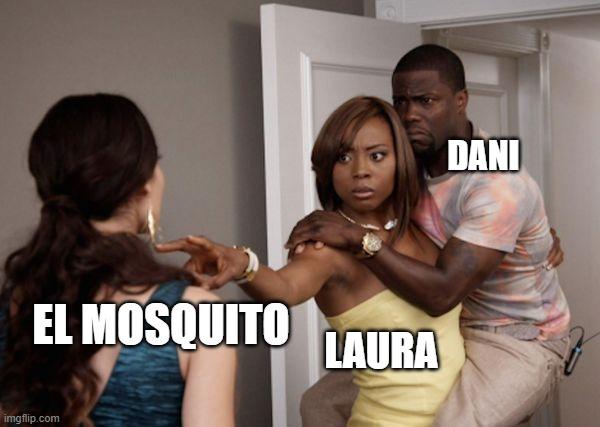 @WhsprKuro me dijo ayer que un mosquito lo despertó por la mañana. Mi respuesta ha dado lugar a que hiciera este meme.  #relationshipgoals pic.twitter.com/JEThdM5h9m