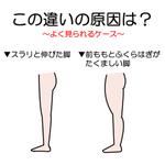 脂肪が原因じゃない!?脚が太くなってしまうのは骨や筋肉が要因かも!
