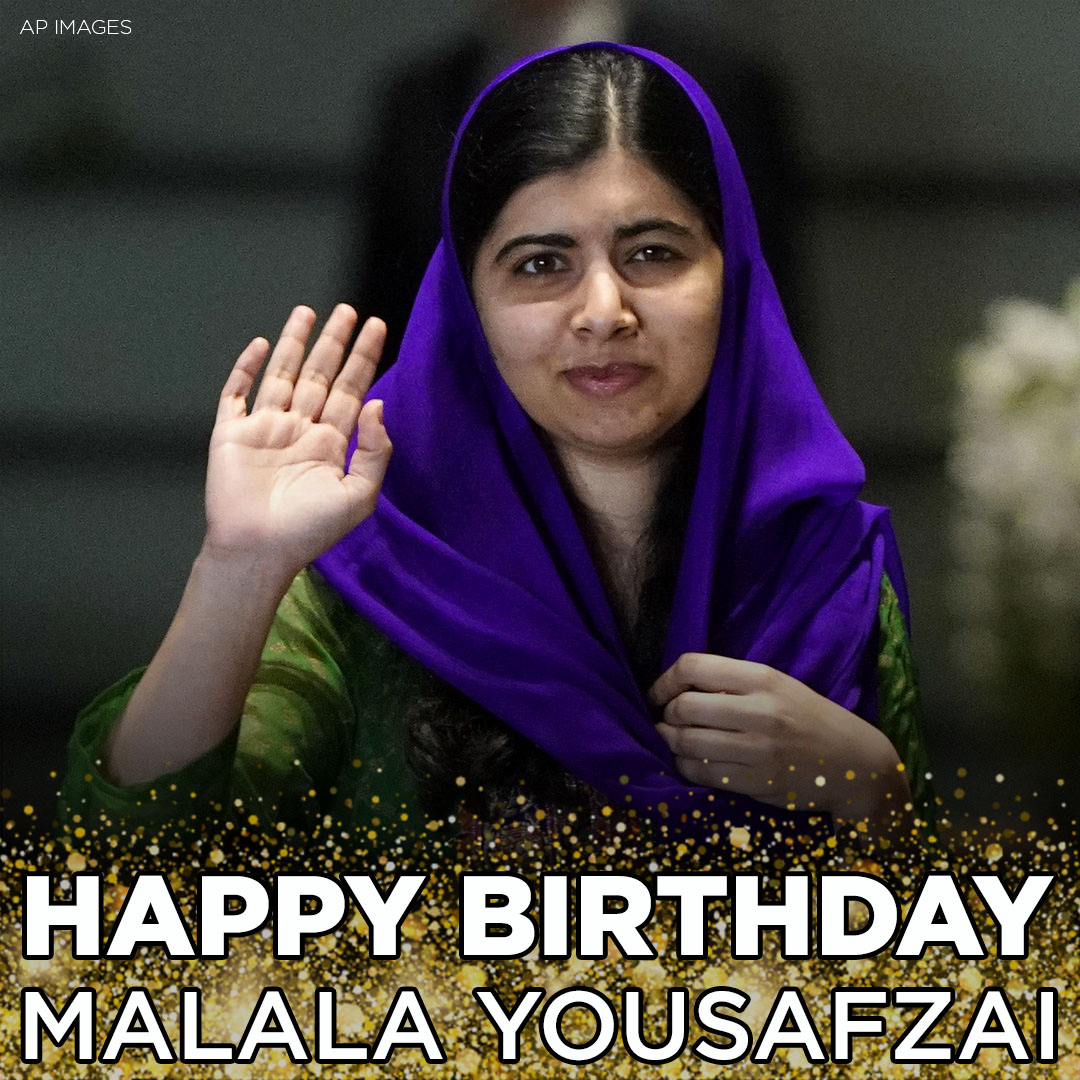 HAPPY BIRTHDAY! Malala Yousafzai, the Pakistani teenager shot by the Taliban for daring to want an education, is celebrating her 23rd birthday today. The Nobel Peace Prize winner recently completed her degree at Oxford University: https://t.co/KYhgKBaEwm https://t.co/HqcJhXmWV6