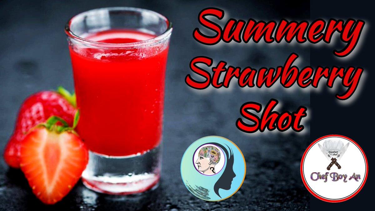 Chef Boy An making for you Summery Strawberry Shot  #shot #shoot #summer #SummerHeat #schnaps #drink #coctail #cocktail #koktel #cocktails #summertime #SummerVibes #SummerOfLove #foodblog #foodblogger #chef #chefs #recipe #recipes #RecipeOfTheDay #receta  https://t.co/ygjLWYX78n https://t.co/kDZdK1Of51