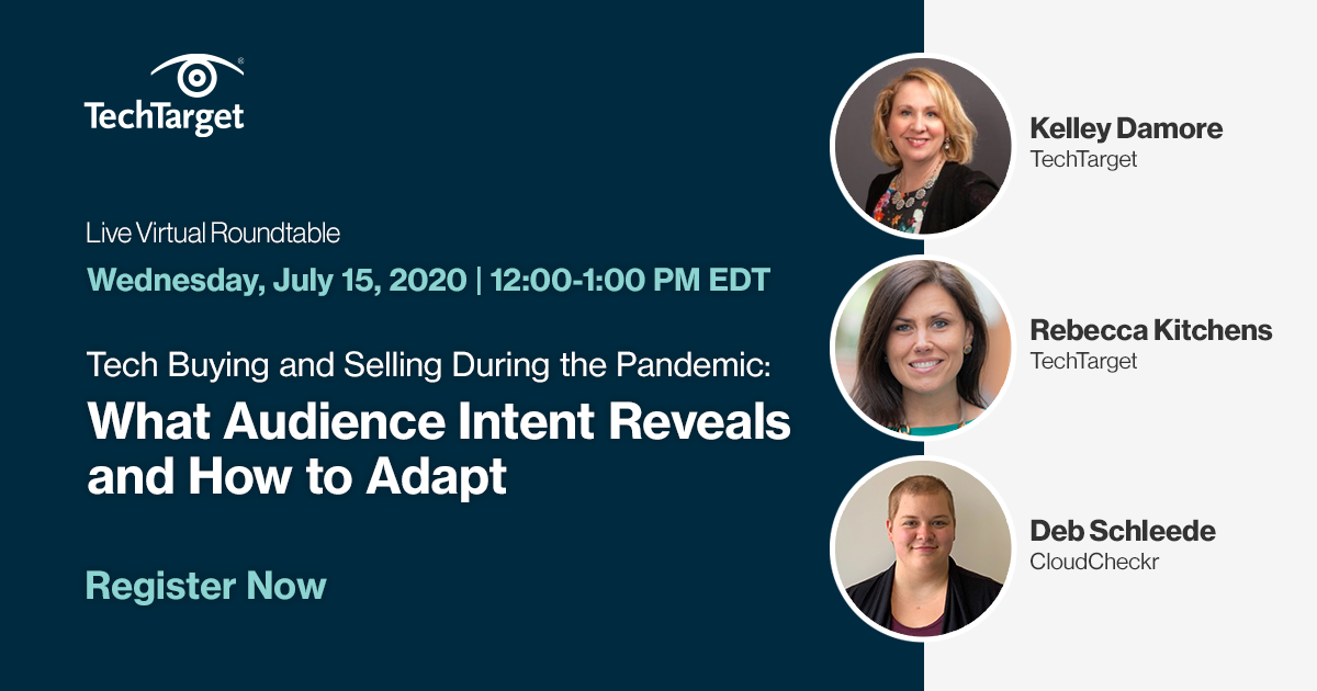 Learn how to leverage key buying trends and behavioral insights to take real action right now.   Register here: https://t.co/6mydu0eGoJ   💭 Insights from: @debschleede of @cloudcheckr, @Kelley_Damore & @rkitchensTTGT of @TechTarget  #IntentData #B2BMarketing #B2BSales #COVID19 https://t.co/nbagQnONGq