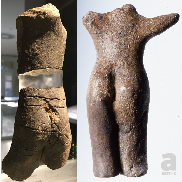 "#BestMuseumBum Well @YorkshireMuseum, we're a bit late to the party, so we present you not one, but 2 of our finest ""behinds"". Not only are they pretty old (5th/6th millenium BC respectively), but belong to a male (left) and female (right) figurine.  #equality #CURATORBATTLE pic.twitter.com/2BG73JGIul"