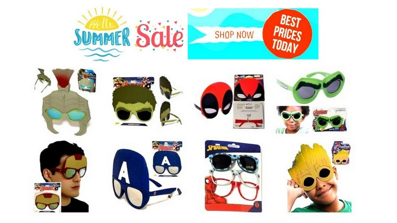 Save up to 10% - #Superhero Summer Ready #Sunglasses -  🛒👉https://t.co/ouRUpC2trR🛍️   #shades #Avengers #MARVEL #eBay #ebayfinds #Deals #steals #shopping #shopsmall #onlineshopping #summertime #summer #SummerHeat #summerfun #buy #beach #beachlife #PoolTime #onsale #sundayvibes https://t.co/aWBdzJDrfA