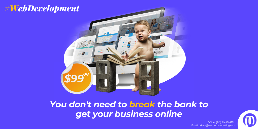 You don't need to break the bank to get your business online. Get a website up and running in 3 days for just $99. @iMisred   #Zimbabweans #redmarketsunday   #entanglements https://t.co/IRByr2yW0i