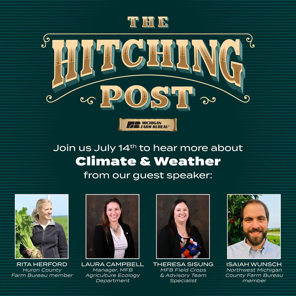 Mark your calendar for the next Hitching Post on July 14! https://www.michfb.com/MI/News/Policy_and_Politics/Hitching_Post_Climate_weather_on_deck/…pic.twitter.com/oZTzdKy4T2