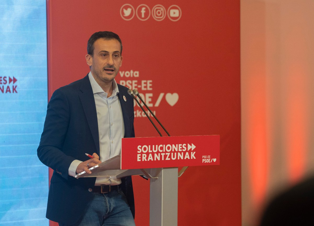 """⏩ @ekainrico  """"Los sondeos apuntan al fortalecimiento del proyecto socialista y ratifican la apuesta que hemos hecho por la estabilidad y los acuerdos, dos factores esenciales a partir de mañana   en #Euskadi"""" #12J #EleccionesVascas2020 #elecciones12J https://t.co/vizeH48lWQ"""