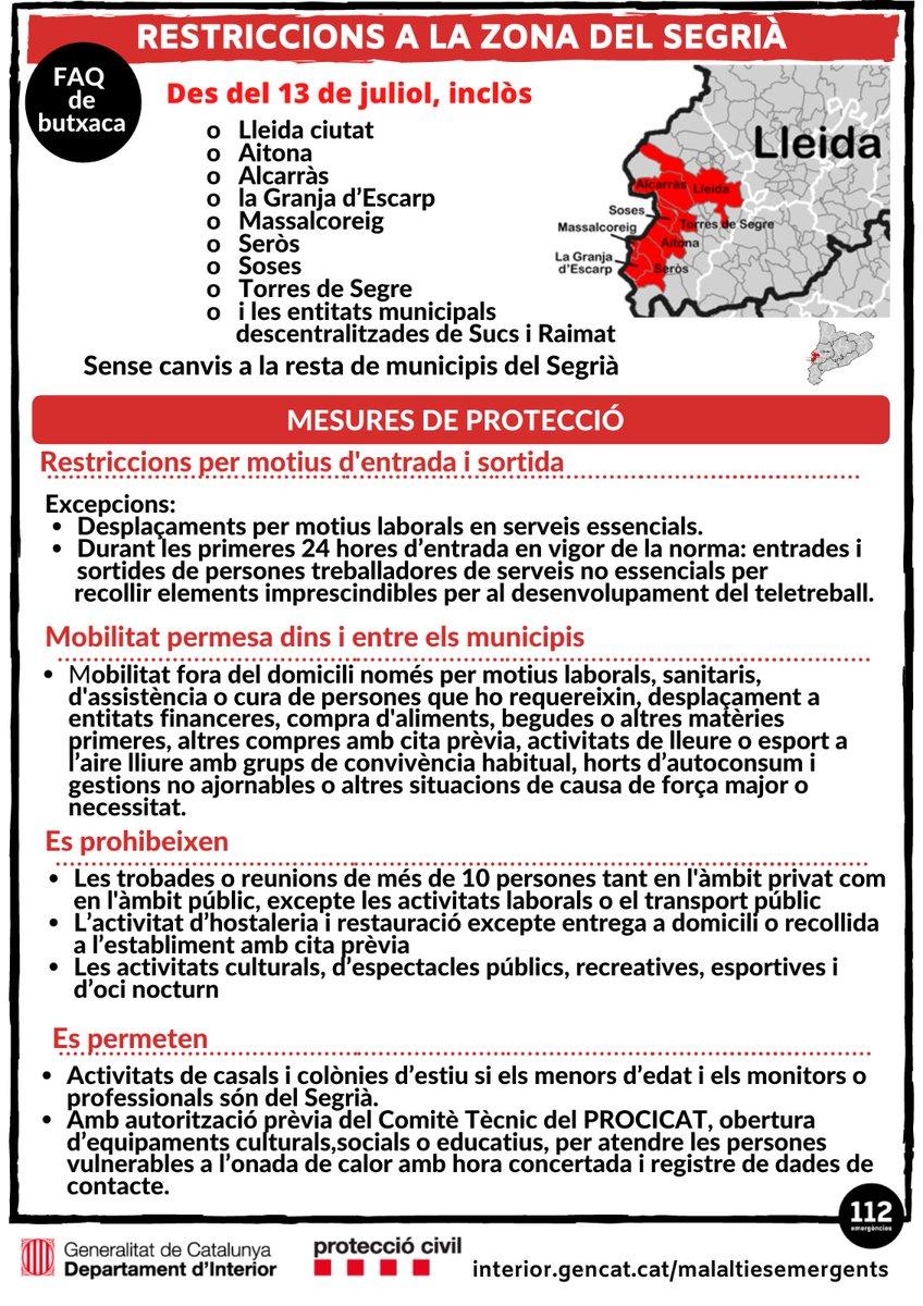 🔴 FAQs de butxaca del confinament baix #Segrià. #protecciocivil https://t.co/fM48AxlG6y