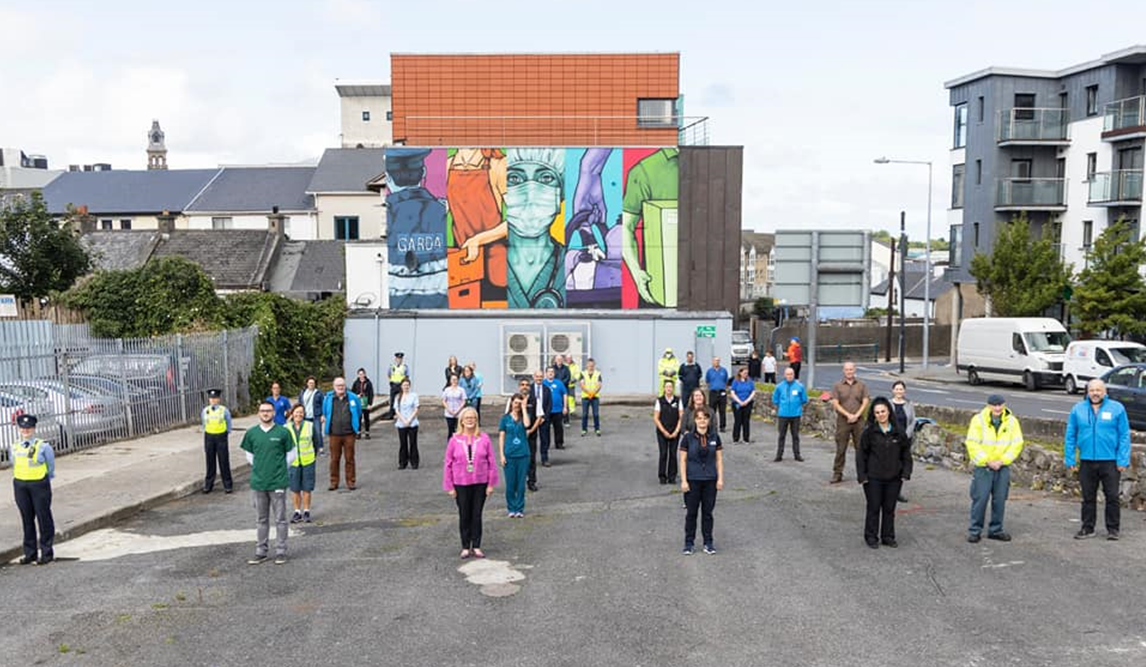 A lovely tribute to ALL front line workers during #Covid19, this mural was commissioned by Sligo Tidy Towns/ Sligo County Council & Sligo BID. Please continue to observe all HSE & Govt Guidelines as we are #InThisTogether  #HereToHelp https://t.co/RvpJBzV23g