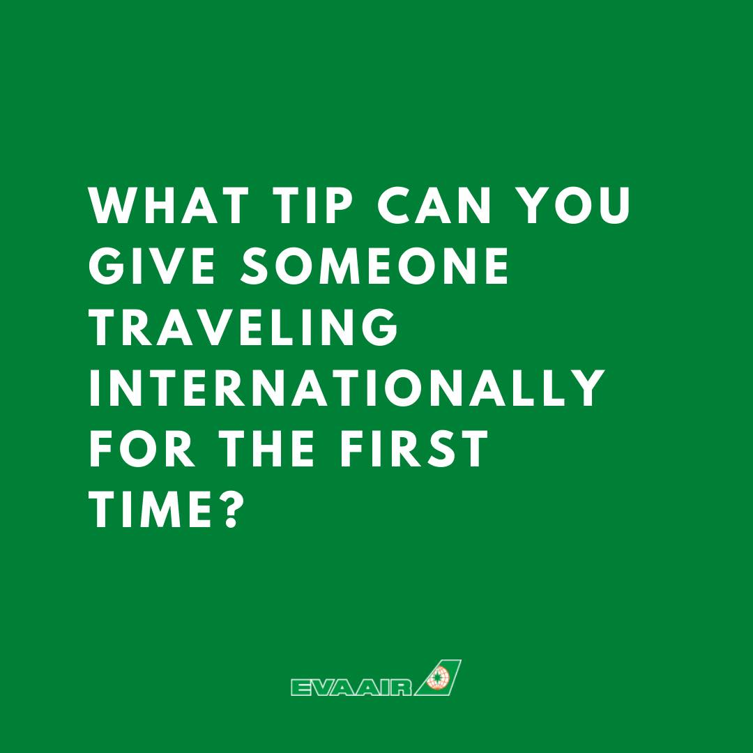 What is one tip can you give someone traveling internationally for the first time? Share the tip below, let's support new travelers! 🌎 https://t.co/X5LRe6czZw