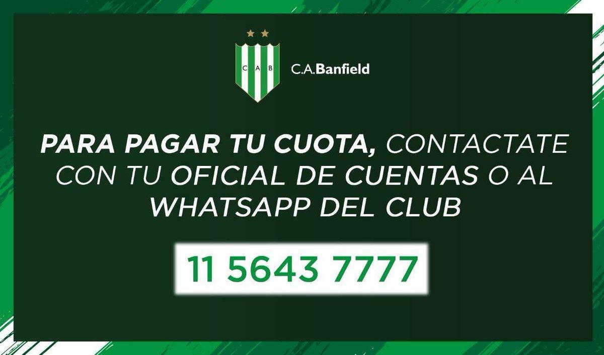 Para abonar tu cuota social, podés contactarte con tu Agente de Cuentas o al WhatsApp del club 📲. https://t.co/LwN287ZiGt