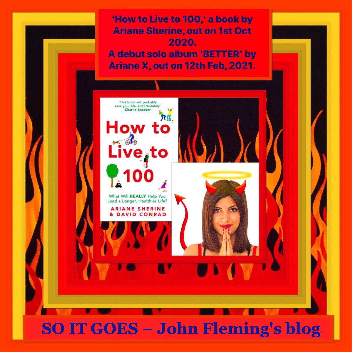 'How to Live to 100,' a #book by #ArianeSherine, out on 1st Oct 2020. A debut solo #album 'BETTER' by #ArianeX, out on 12th Feb, 2021.  #thejohnfleming #blog  #london #lovelondon #UKSOPRO #edfringe #sheffieldissuper #rotherhamiswonderful #barnsleyisbrill   http://thejohnfleming.wordpress.com/2020/07/12/johpic.twitter.com/LJdURKS12q