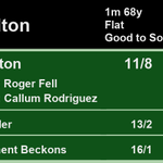 15:55 @HamiltonParkRC  1st Smeaton 11/8 2nd Bawaader 13/2 3rd Retirement Beckons 16/1  A Win for @rogerfell22 and @CallumRodrigue4  Full Results here: https://t.co/uOLgvfwqlm #HorseRacing #Results