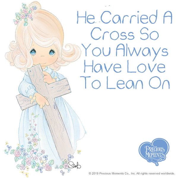 """We can feel joy and appreciation in the midst of a challenge, just by thinking about how much Jesus loves us. Our """"crosses"""" become much easier to bear with faith, love, and prayer.   #PreciousMoments #LifesPreciousMoments #Faith #Prayerpic.twitter.com/QVo1dFQBqn"""