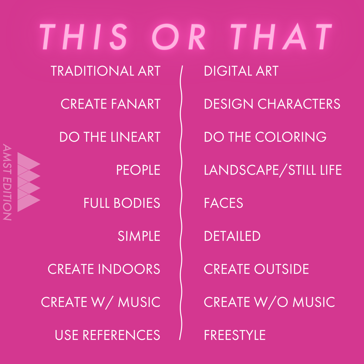 THIS or THAT? Tag us in your stories/retweet & tag a friend to play along too! #AMSTactivities #thisorthat #artmuseum #museumgames #museumfromhome #artathome #tagafriend #visitAMSTpic.twitter.com/WOCa3VaxaE