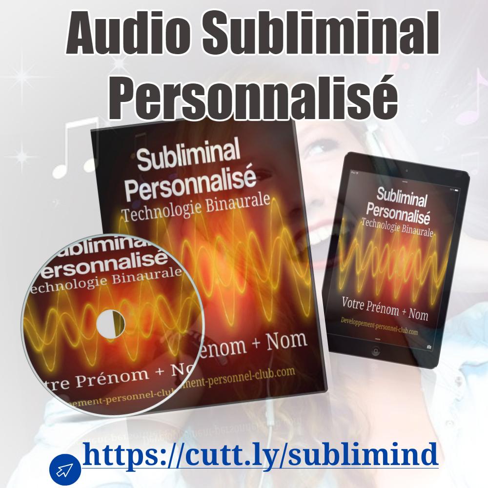 Profitez de la toute puissance du Subliminal Personnalisé audio La procédure est simple !  Vous choisissez le contenu des messageset nous vous concevons un texte de suggestions personnalisés) https://t.co/VkaHkXfeSc  #subliminal #developpementpersonnel #subconscient https://t.co/hvWL3OF2jB