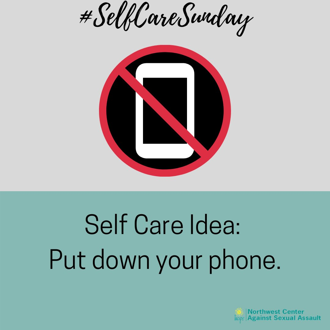 A tad ironic to suggest since you probably saw this on your phone.  But set aside time to step away today & notice how you feel #selfcaresunday #selfcareirony #takeabreak pic.twitter.com/DUUYSFcsm7