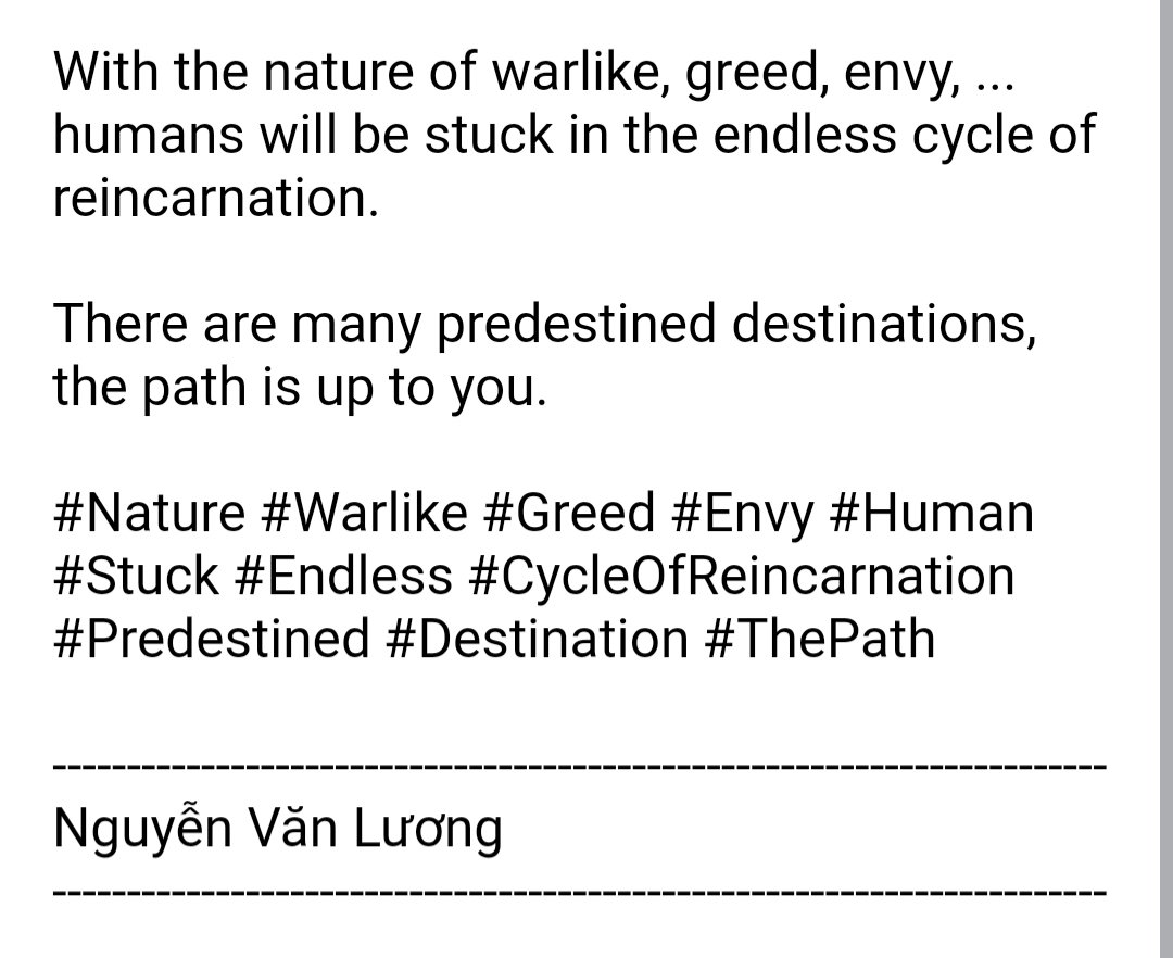#Nature #Warlike #Greed #Envy #Human #Stuck #Endless #CycleOfReincarnation #Predestined #Destination #ThePath https://t.co/ImTaNeUIME