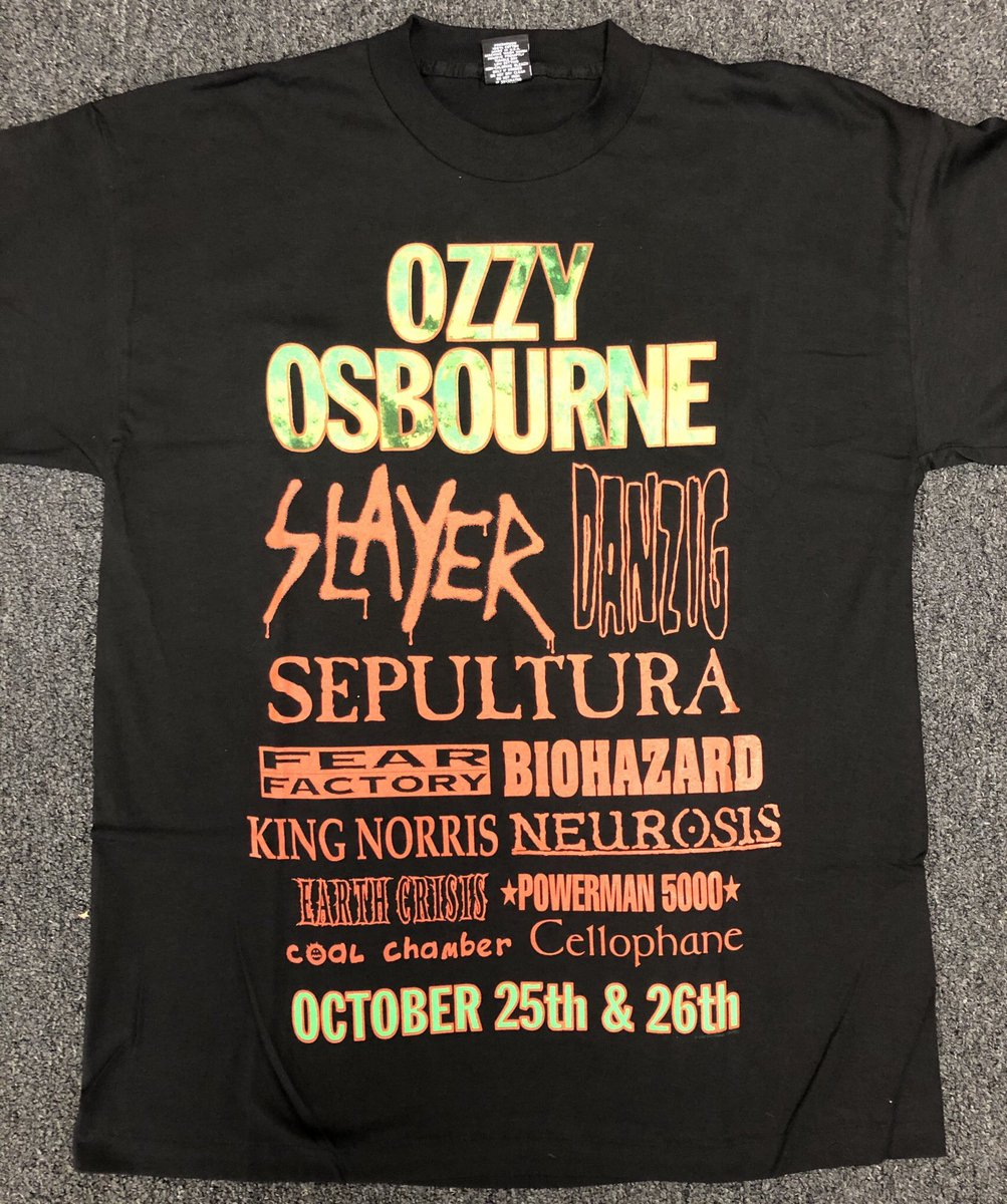 MORE VINTAGE ITEMS ADDED Past tours' merch available until sold out! 10% to @NAACP_LDF stores.ebay.com/ozzfest