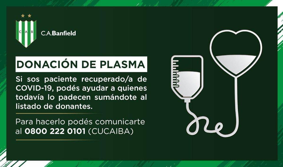 Si te recuperaste de COVID-19, podés ayudar a quienes siguen luchando con esta enfermedad 💚.  Sumate como donante de plasma y salvá vidas. Más info ➡️ https://t.co/VH85JK6uKh https://t.co/L25mLmGri2
