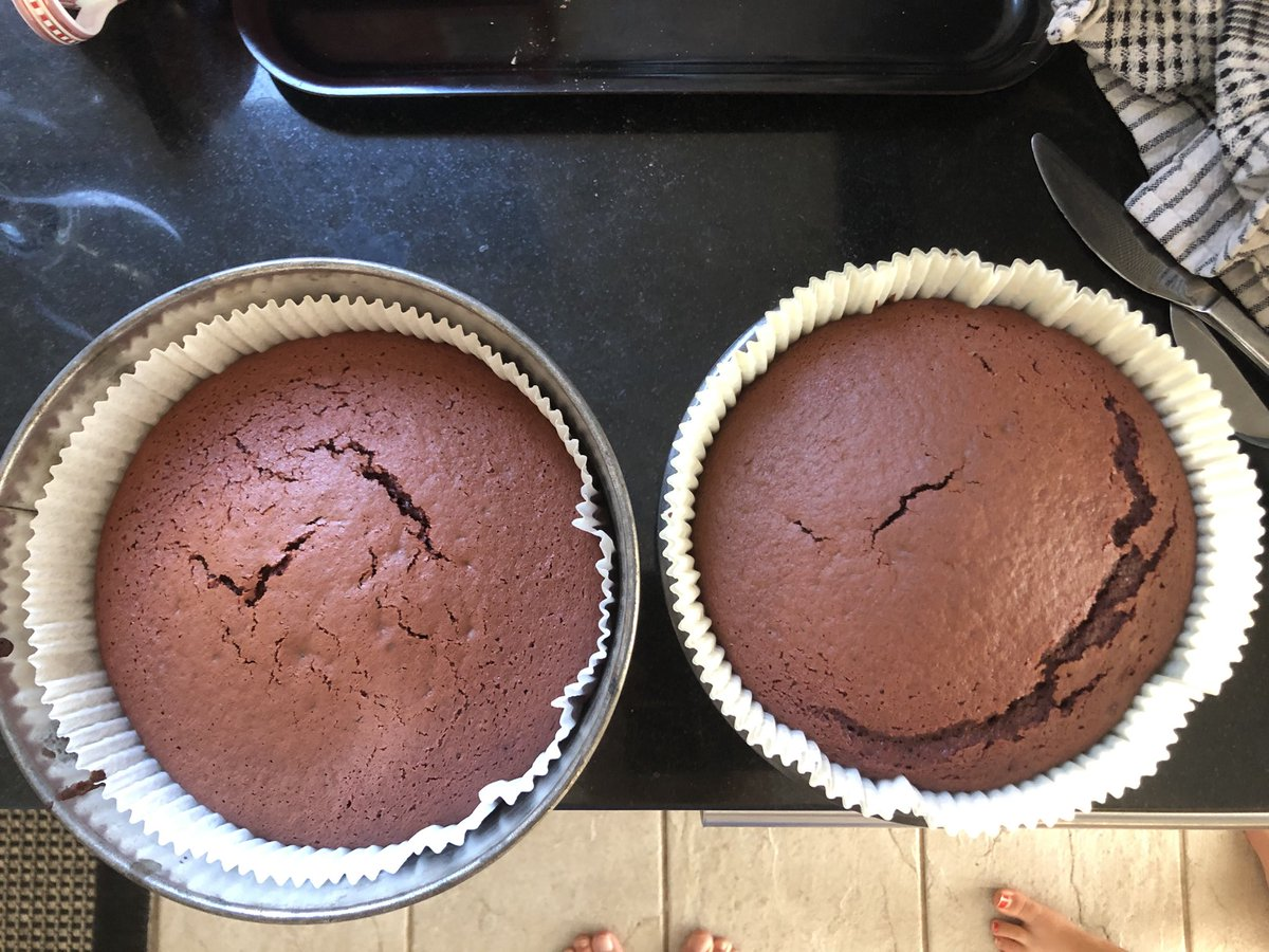 Baked a 🍰! #FirstTimeForEverything Did receive some help!